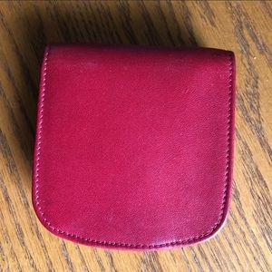 Red Lizell leather wallet, beautiful! FIRM PRICE.